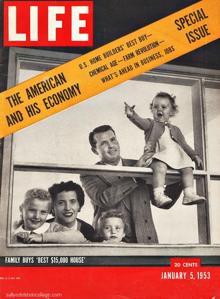 1950s happy family prosperous economy