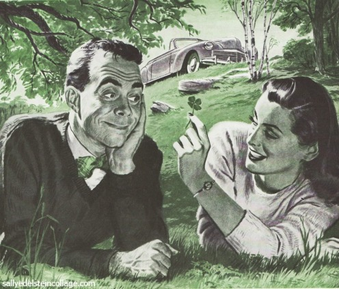 1940s couple on a picnic