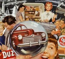 art work vintage advertising collage Cold War
