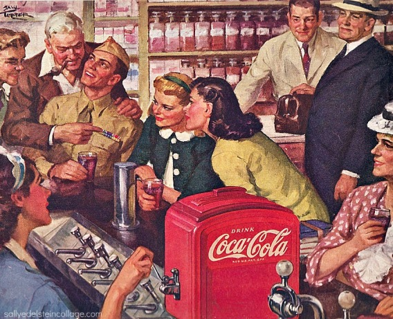 soda Fountain Coke ad 1940s
