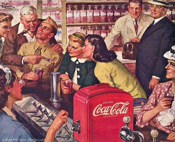 soda Fountain Coke ad 1940s
