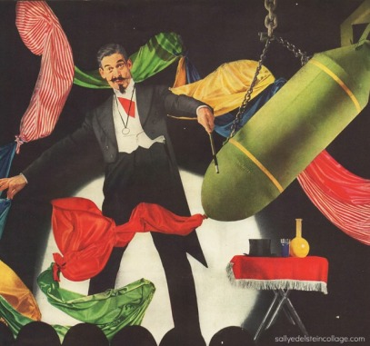 vintage illustration magician