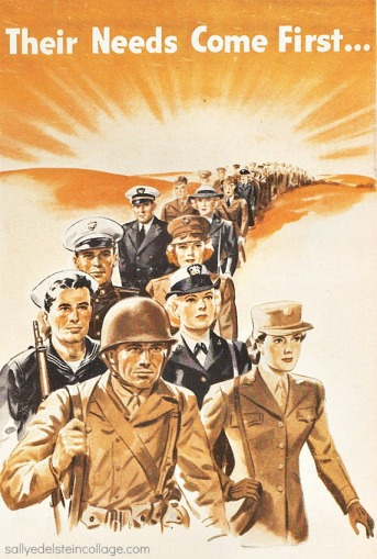 Vintage ww2 ad soldiers sailors 1940s