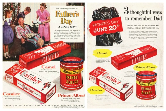 vintage ads pictures of happy 1950s family cigarettes