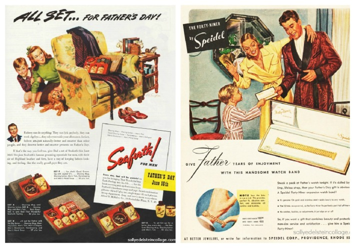 vintage Father Day ads 1940s