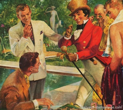 vintage illustration unintentionally gay men 1950s
