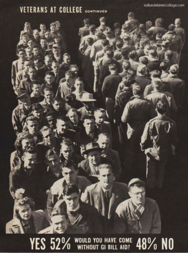 wwII vets and college students 1940s