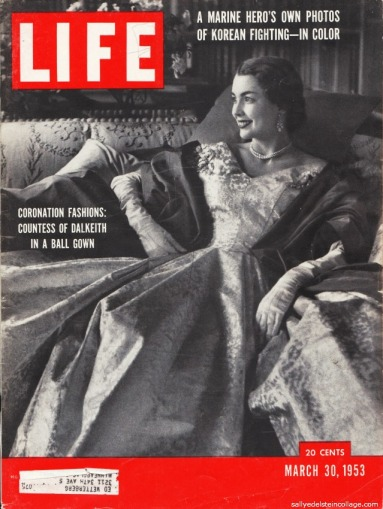 photo of 1950s Countess in ball gown for Queens Coronation
