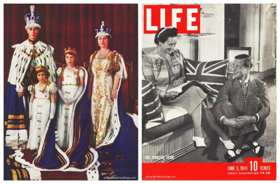 Photos King George VI, Princess Elizabeth, Queen Elizabeth and Princess Margaret The Duke and Duchess of Windsor