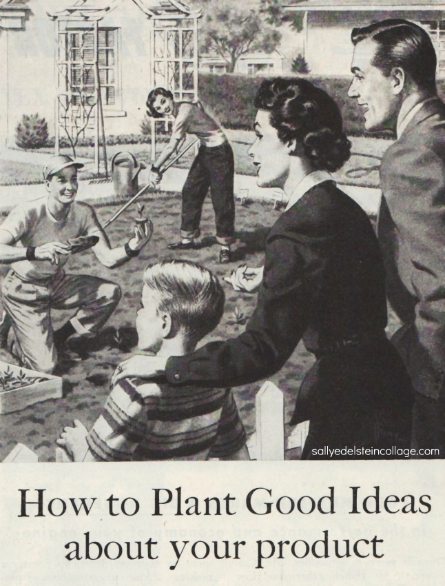 1950s family gardening