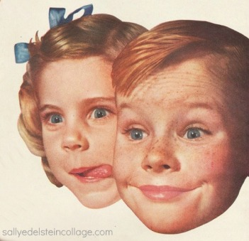 1950s face kids smiling
