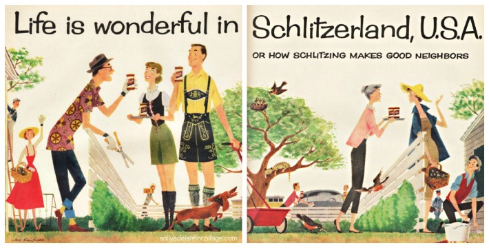 Vintage illustration art & advertising 1950s suburbanites
