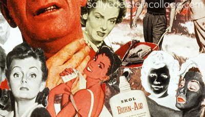 art collage by Sally Edelstein vintage images and ads