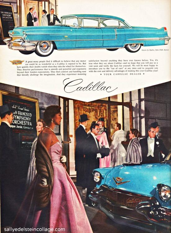 vintage ad Cadillac car 1956