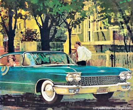 Vintage Illustration Cadillac coup de Ville 1960