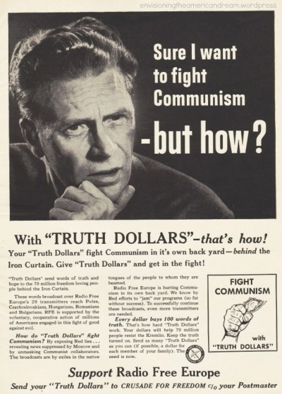Vintage Ad asking Sure i want to fight communism -but how?