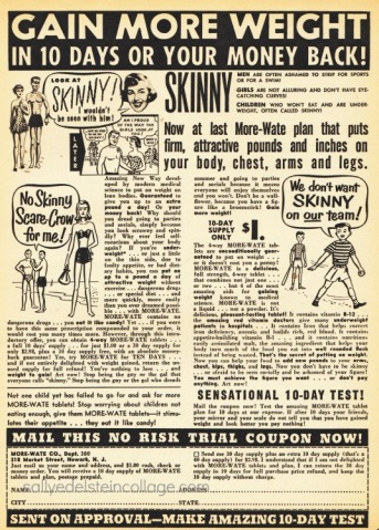 vintage 1950s ad to gain weight