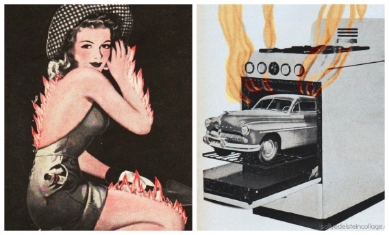 vintage images and illustration 1940s,50s