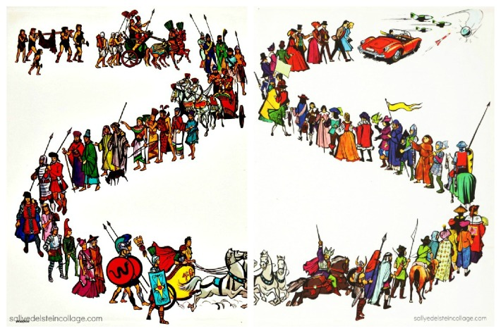 vintage illustration childrens book mankind through the ages