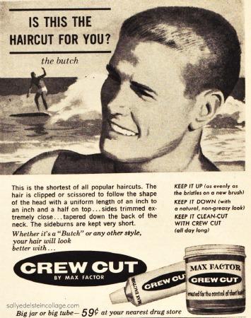 Vintage Illustration 1960s teen boy surfer