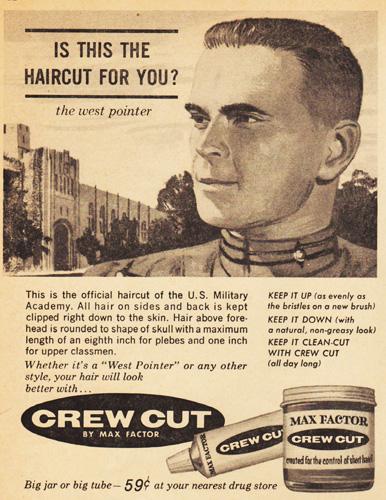 vintage illustration teen boy West Point cadet 1960s