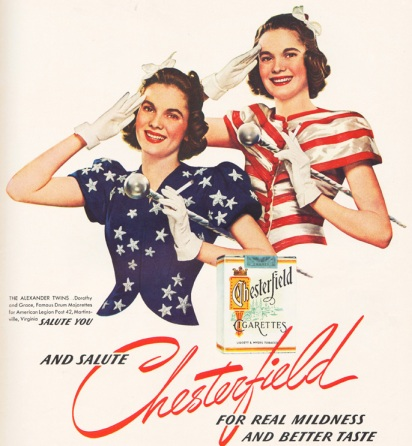 vintage ad 1940s girl majorettes for July 4th
