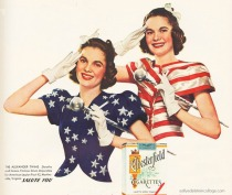 vintage ad 1940s photos majorettes in patriotic outfits