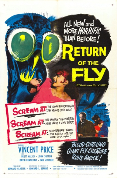 Vintage movie Poster Return of the Fly 1959