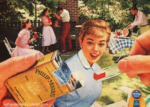vintage ad suburban backyard barbecue 1950s