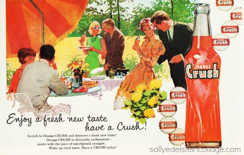 Vintage illustration suburban entertaining  1960s