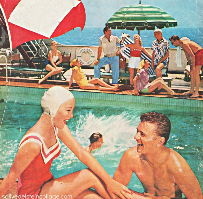 Summer of 1960 Beach ClubsallyedelsteinJFK Bathing Suitsummer woman at beachvintage ad Canada Dry Beverages 1950ssummer beachclub jfk for president button(l) Vintage Ad Pepsi 1954 (R) vintage campaign button Youth for Kennedy 1960