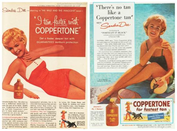 retro actress Sandra Dee in bathing suit 1960