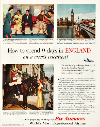Vintage airline ad photos England 1950s