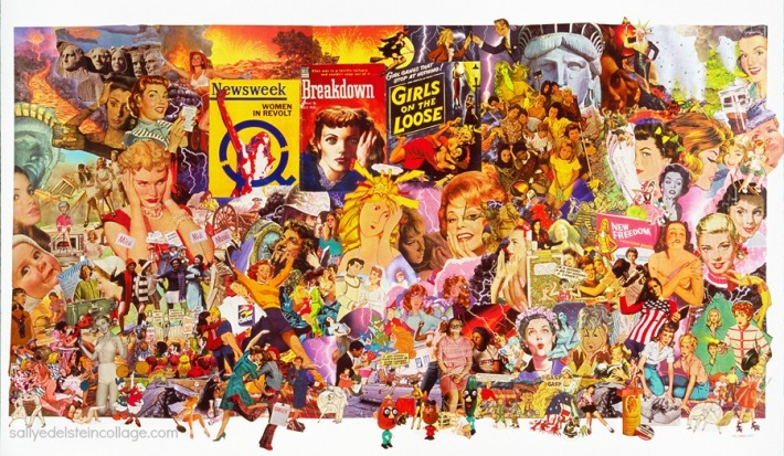 collage composed of vintage ads and illustrations