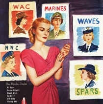 WWII vintage ad illustration fe,ale beauty