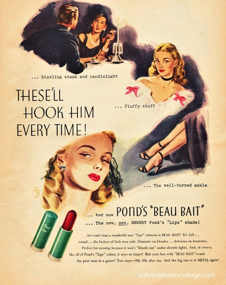 Vintage art & advertising illustration womens beauty 1940s