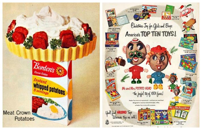 vintage ad Mr &Mrs Potato Head toys