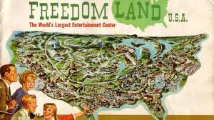 vintage Amusement Park illustration Freedomland 1960s