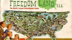 vintage Amusement Park illustration Freedomland 1960s