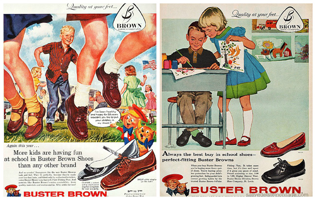 vintage ads illustration childrens shoes