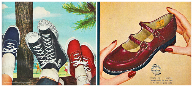 Vintage childrens shoe ads 1950s