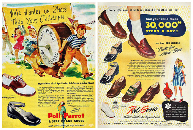 Vintage Ad Childrens shoes 1950s