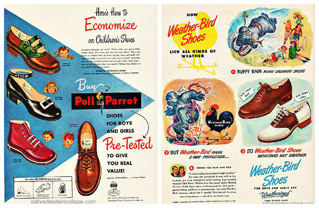 Vintage Ad Kids Shoes 1950s