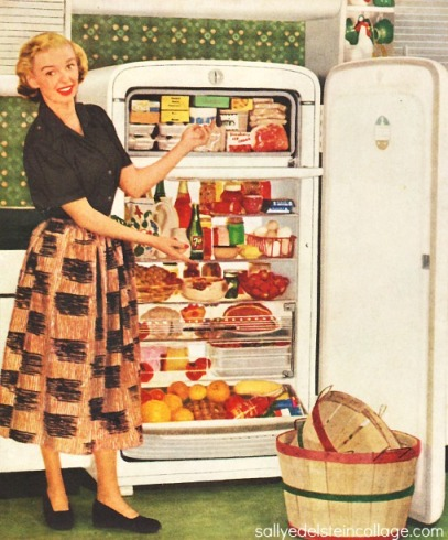 Vintage refrigerator housewife1950s
