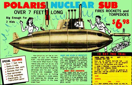 vintage ad polaris nuclear sub