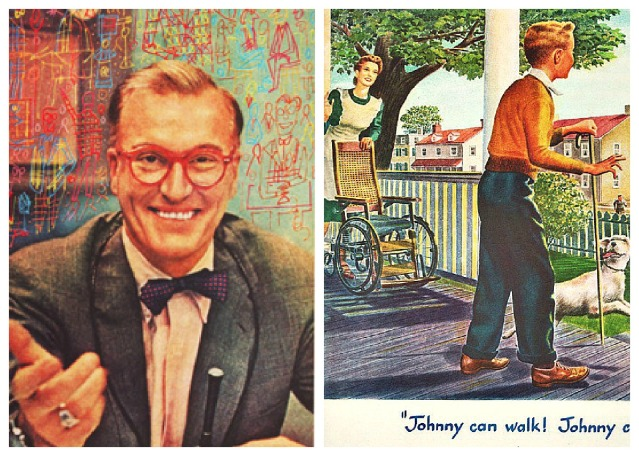 picture Dave garrowy host of Today; vintage illustrationcrippled boy walking