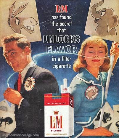 Vintage cigarette ad political campaigners