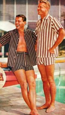 1950s men in cabana suits