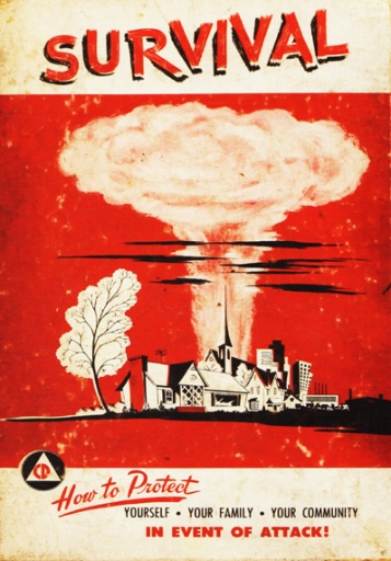 Vintage Book Cover How to Survive Atomic Attack 1956