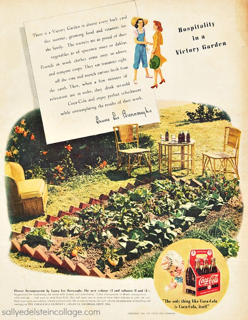 Vintage Illustration Victory Garden 1940s